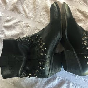 Black spiked booties
